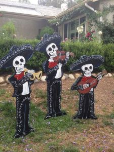 You may not hear any music from these guys. But they sure make a great lawn decoration trio.