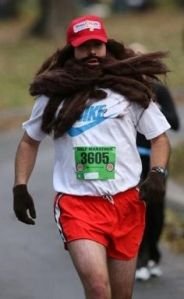 He even has that beard after running for all that time. Then again, he just felt like running.