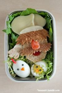 This one includes a Swedish Chef sandwich and chicken eggs. Seems he wants to cook them both.