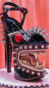 Yes, I know this shoe design makes no sense. But it'll sure look great for a Halloween costume. Got to love the teeth.