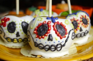 Well, that's one unique way to decorate a skull besides cakes and cupcakes. Beautifully painted.