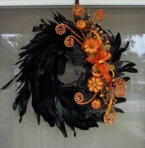 Yes, I have quite a few feather wreaths on here. But each is decorated in its own way so to speak. Love this one.
