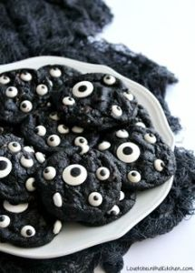 Each one is black and covered with eyes. I know it's weird, But for Halloween, it's appropriate.