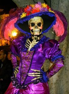 I have to admit, I really like that purple dress. Also, how this actually resembles a skeleton.