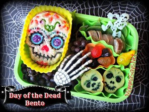 Well, it has a skull cookie and some skull treats. However, let's get this straight, Dia de los Muertos isn't Mexican Halloween.