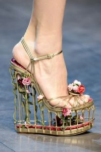 Yes, it's another cage shoe. But I do like the lovely flower decorations on this.