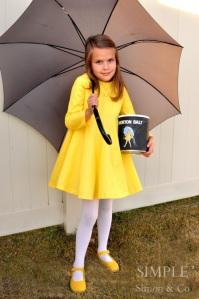 She appears on those Morton salt cans. You know the girl in yellow in the rain.