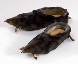 Though these moleskin shoes are pretty damn creepy. But that's what you get with taxidermy.