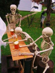 So if a skeleton runs a tab on beer, who pays for it? And where does the booze go? These are serious questions, people!