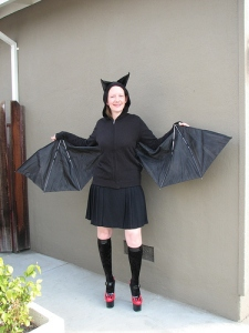 No, it's not Batman. She's just a regular bat. Nothing remarkable about her.