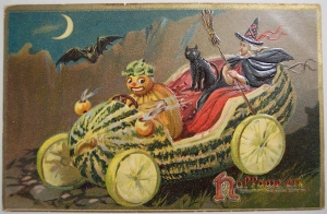 "Even the witch is like, ""I can't fucking believe this!"" As if these pumpkin people are freaky enough. Now they're driving giant gourds."