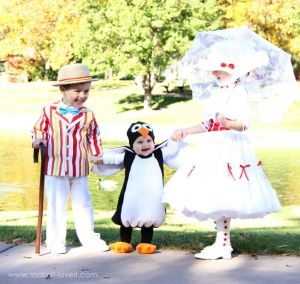 Has Mary Poppins, Burt, and a penguin. Got to love these costumes. So adorable.