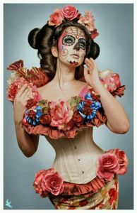 Well, she seems covered in flowers and has her hair all nice. But sexy Halloween costume, it is definitely not.