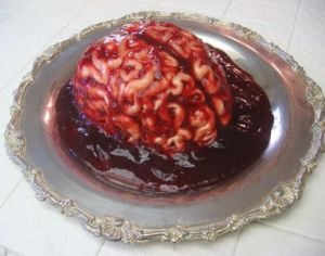 I think this is another brain cake and a very gory one at that. Not sure if I'd want to try that for size.