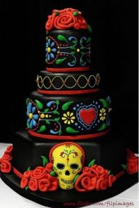 This might be a wedding cake or for a birthday. I can't tell which. But I guess the ornate decor doesn't come cheap.