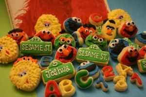 Yes, they may be made from a bakery. But they have letters and numbers as well as characters. These are adorable.