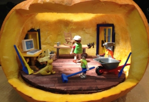 This one uses Playmobil figures. Must've been made for a kid so it would be less scary.