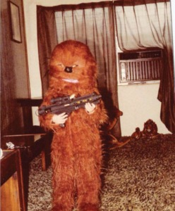 Then again, he might be a heavily Sasquatch if this picture was taken before 1977. Either way, he could rip your arms out of their sockets. So it's best to let the Wookie win.