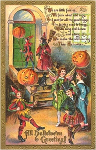 "From I-Mockery: ""If only I had a dime for every single time I've seen this same old scenario take place on Halloween..."" Because aren't pumpkins a bit heavy to use as lamps. This must be based on an acid trip."