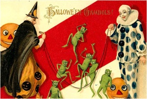 "From I-Mockery: ""It's Halloween! You know what that means! Yep! It's time to dress up like a clown and a witch and bust out the ol' jump rope!"""