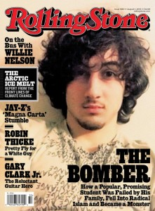 This is Dzhokhar Tsarnaev, who's the surviving Boston Marathon Bomber. The people of Boston weren't happy about this cover at all.