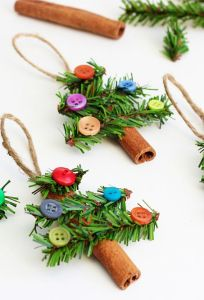 Each one has some tree limbs with button ornaments. I'm sure they're hard to resist.