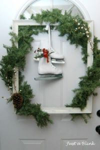 And white ice skates give it a key Christmas touch. Not sure if I'd want it in my house, but I'll take it for my post.