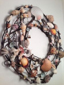 Well, if it weren't for the shells, it would just be a wreath of twigs. The shells give this one a lot of color and charm.