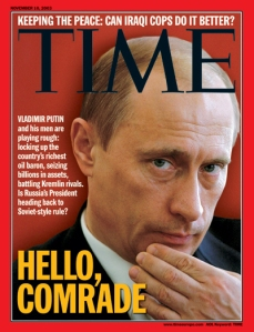 "Here we have him in a candid pose with the title, ""Hello, Comrade."" Yet, despite the friendly presentation, they say he's anything but a nice guy from Russia."
