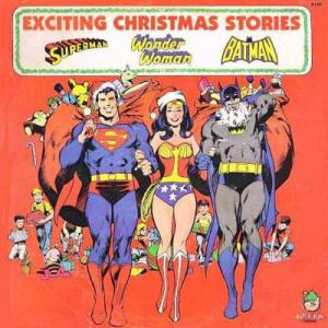 Batman looks as if he has rabies while Wondy and Superman don't seem concerned about it. Okay, he's wearing a Santa beard. But still, it's disturbing.