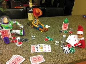 Is Minter drinking and playing poker with Woody, Buzz, and Rex? Jesus, now my childhood is ruined.