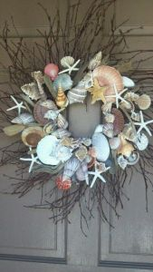 This includes shells of all shapes, sizes, and colors along with twigs and starfish. Beautiful.