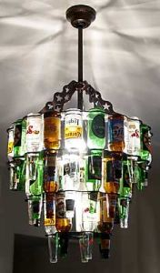 Yep, this one consists of beer bottles. I know it's tacky but there are guys who will want this for their man cave.