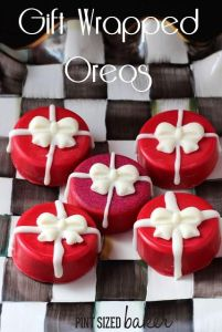 Actually, you probably will since they're covered Oreos. But I really love the bows on these.