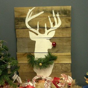 Well, you just have a white silhouette of Rudolph. But you do have a red nose and pine wreath on his neck.