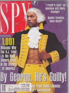If Spy thinks he's guilty, then why do they have him dressed up as George Washington? It's just so absurd. Then again, maybe that's the point.