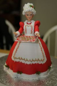 This one uses a doll and has her holding a tray with cookies. Nevertheless, I think this is adorable.
