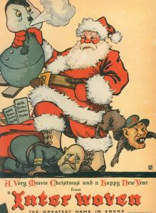 Also, watch Santa beat the living shit out of Axis power leaders. Still, the Japanese depiction is the mot offensive of the 3. Yellow peril, really?