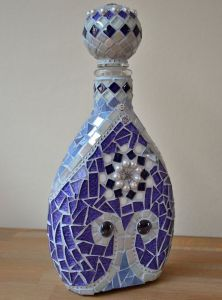 I especially love the purple on this perfume bottle. The pearls are a nice touch, too.