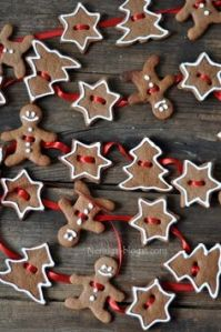 I think this comes from salt gingerbread dough which you can't eat anyway. But love how they have the gingerbread man, star, and tree pattern.