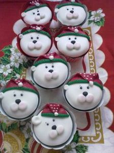 These all have a green and red Santa hat. But their faces just scream of North Pole cuteness.