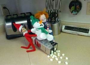 No, don't put him through the grater? Anything but the grater? Poor, Frosty.