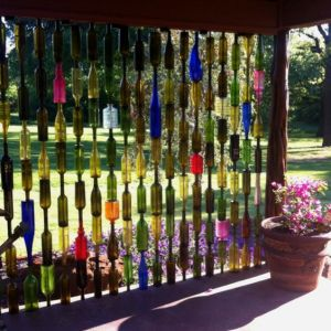 Nice to see a fence with so many different colors that the sun can reflect from. Still, decorative use only.