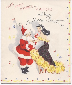 But dancing with a woman who's not Mrs. Claus? That'll probably put him in the North Pole doghouse for awhile. Bad Santa.