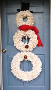 Well, it comes with 3 circles along with a scarf and hat. Pretty simple decoration to make by the looks of it.