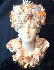 This is actually a kind of sculpture people seem to create with shells. I'm not sure why. But it's kind of a thing.
