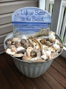 Well, it's a bucket full of shells as you can see. I'm sure this is only used for decoration.