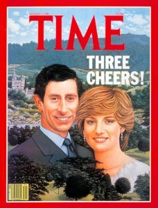 Prince Charles looks particularly unflattering in this. Also, keep in mind that after 2 boys, they'd both cheat on each other and later divorce. Also, Diana died in a car wreck.