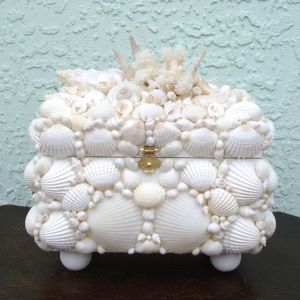 Well, certainly seems like a box one might find on the seashore. Yet, it's better suited as a decorative item on land.