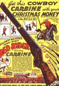 Warning: Contains a strong possibility that you'll shoot your eye out, kids. Also doesn't come with a gyroscope as you might've thought from Christmas Story.
